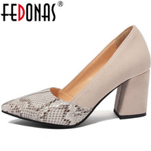 Load image into Gallery viewer, FEDONAS  Women Pumps Suede Leather Prom Shoes Party Pumps Spring Summer  High Heels New Arrival Fashion 2020 Shoes Woman