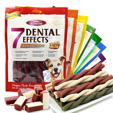 7 Flavors Dogs Feeder Snack Health Food for Small Large Dogs Chew Cleaning Teeth Dogs Snacks Fresh Beef Delicious Beef Feeder