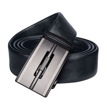 Load image into Gallery viewer, Hi-Tie 3+2 Gift Belt Box Set Men's Genuine Leather Black Belt Brand Designer Automatic Buckles Belt Metal Ratch Belt for Mens