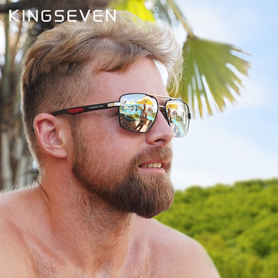 KINGSEVEN Brand 2020 DESIGN Men' Glasses Polarized Sunglasses Coating Mirror Glasses Oculos Male Eyewear Accessories For Men