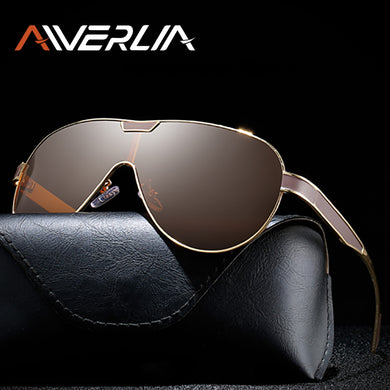 AIVERLIA Sunglasses Men Polarized Men's Glasses Man Sunglass Brand Design Mirror Lens Black Gold Oculos Masculino AI55