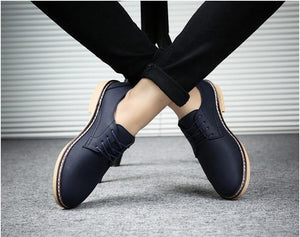 2019 NEW Classic Comfortable Men Casual Leather Shoes Men Flats Hot Sale Moccasins Sneakers Shoes  Oxfords Formal shoes LK-97