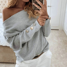 Load image into Gallery viewer, 2019  Sexy Off Shoulder Tops and Shirt Sexy Off Shoulder Long Sleeve Solid Color Women Blouse Fall Clothing