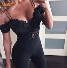 Load image into Gallery viewer, Bandage Jumpsuit 2019 New Autumn Black Ladies Bandage Jumpsuit Strapless Lace Sexy Tights Bandage Jumpsuit