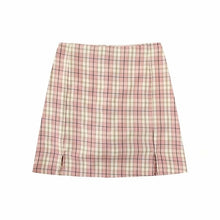 Load image into Gallery viewer, Women Split Details Plaid Mini Skirt with Under Shorts Mini Skort In Check