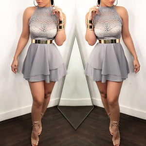 New summer  Sexy High Slit Peplum Slim hollow out  Bodycon Elegant  A-line  Dress Female O neck Long Sleeve Dress Vestidos