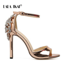 Load image into Gallery viewer, LALA IKAI Women Crystal Glitter Sandals Pump 2018 High Heels 11CM Sandals Lady Chic Cover Heel Party Sexy Shoes 014C1195 -4