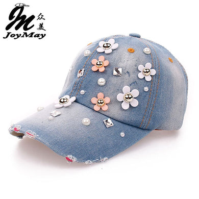 High quality Wholesale Retail JoyMay Hat Cap Fashion Leisure Rhinestones Vintage Jean Cotton CAPS Unisex Baseball Cap B064 - Y O L O Fashion Store
