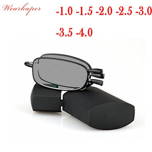 WEARKAPER Folding Sun Photochromic Finished Men Women Myopia Eyeglasses Frame Sun glasses optical Myopia Eyewear Oculos Male - Y O L O Fashion Store