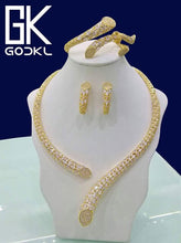Load image into Gallery viewer, GODKI Luxury Geometry Cubic Zirconia Nigerian Jewelry sets For Women wedding Indian DUBAI Bridal Jewelry Set parure bijoux femme - Y O L O Fashion Store