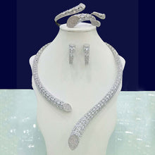 Load image into Gallery viewer, GODKI Luxury Cubic Zirconia Nigerian Jewelry sets For Women wedding Indian DUBAI Bridal Jewelry Sets Silver parure bijoux femme - Y O L O Fashion Store