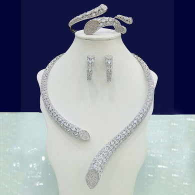 GODKI Luxury Cubic Zirconia Nigerian Jewelry sets For Women wedding Indian DUBAI Bridal Jewelry Sets Silver parure bijoux femme - Y O L O Fashion Store