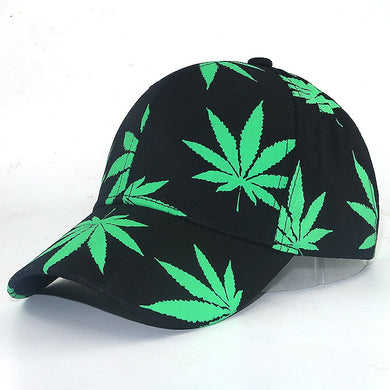 women men fashion Baseball Cap New Maple Leaf Pattern In The Dark Luminous Hat Fashion Street Style Black Snapback Cap - Y O L O Fashion Store