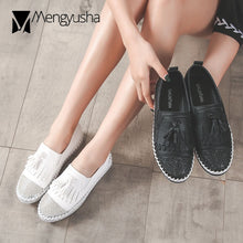 Load image into Gallery viewer, Tassel Espadrilles Shoes Ladies Women Genuine Leather Oxford Shoes Bling Bling Crystal Fishermen Shoes Patchwork Flats Moccasins - Y O L O Fashion Store