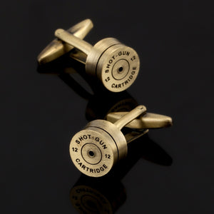 high quality bronze and gold bullet cufflinks,  Shirt Cufflinks designed by senior Masters - Y O L O Fashion Store