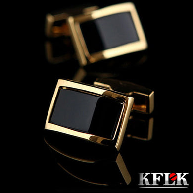 2019 KFLK Luxury shirt cufflinks for men's Brand cuff buttons Gold cuff links gemelos High Quality wedding abotoaduras Jewelry