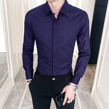 Load image into Gallery viewer, New 2019 Spring Autumn Cotton Dress Shirts High Quality Mens Casual Shirt,Casual Men Plus SizeXXXL Slim Fit Social Shirts