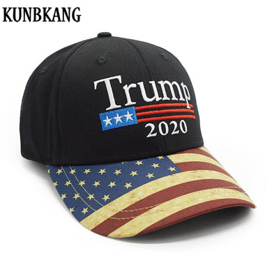 New Vintage Trump 2020 Hat USA Flag Baseball Cap Men Women Snapback Hats Embroidery Bone Unisex Casual Trump Snapback Cap Gorras
