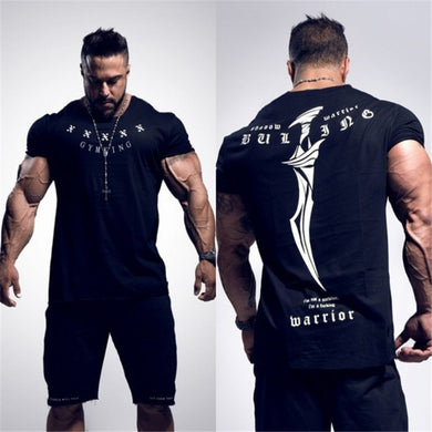 2019 New Summer gym T-shirt large-type brand T-shirt Man shirt Bodybuilding Fitness quick-drying Short Sleeve Running T-shirt