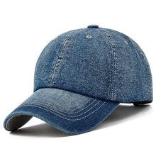 Load image into Gallery viewer, Unisex Solid  Denim Baseball Cap Blank Washed  Jean Hat Casquette Adjustable Snapback Hats Caps For Men And Women