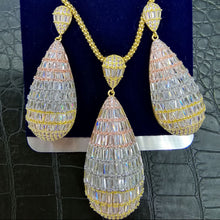 Load image into Gallery viewer, GODKI Luxury Water Drop Cubic Zircon Nigerian Necklace Earring Jewelry Sets For Women Wedding Indian Dubai Bridal Jewelry Sets - Y O L O Fashion Store