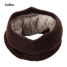 Load image into Gallery viewer, 1Pc Winter Warm Brushed Knit Neck Warmer Circle Go Out Wrap Cowl Loop Snood Shawl Outdoor Ski Climbing Scarf For Men Women