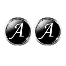 Load image into Gallery viewer, Men's Fashion A-Z Single Alphabet Cufflinks Silver Color Letter Cuff Button for Male Gentleman Shirt Wedding Cuff Links Gifts