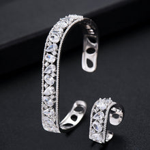 Load image into Gallery viewer, GODKI Luxury Spring Jewelry Sets For Women Wedding Zircon Crystal CZ Qatar Bridal Bangle Ring Sets aretes de mujer modernos 2019