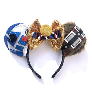 R2-D2, Chewbacca, and C-3PO Inspired Mouse Ears