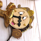 Lumiere and Cogsworth Inspired Mouse Ears