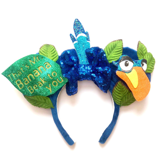 Zazu Inspired Mouse Ears