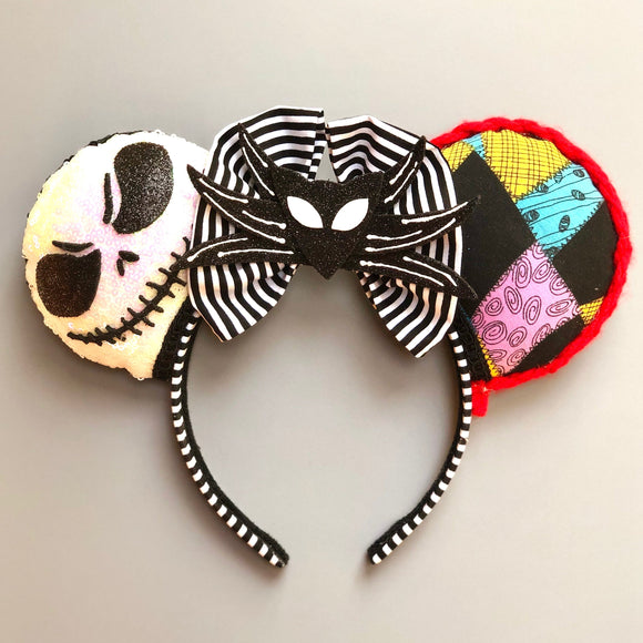 Nightmare Before Christmas Inspired Mouse Ears