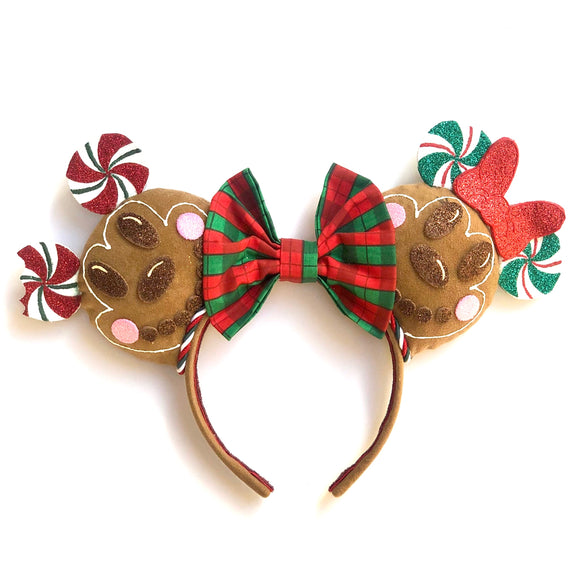 Gingerbread Mickey inspired Mouse Ears