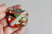 Load and play video in Gallery viewer, Red festivities - Mini Wood Washi paperOrnament