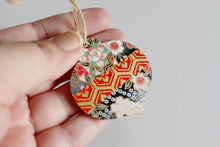 Load and play video in Gallery viewer, Blossom ornament - Mini Wood Washi paperOrnament