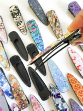 Load image into Gallery viewer, Midnight Plum Blossoms - Single Alligator Hair Clip