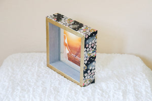 Black on Gold - Picture Frame decorated with Washi Paper