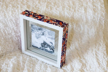 Load image into Gallery viewer, Purple on White - Picture Frame decorated with Washi Paper