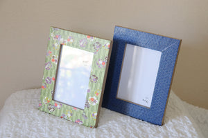 "Green Sakura - 4"" x 6"" Picture Frame decorated with Washi Paper"