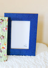 "Load image into Gallery viewer, Blue Mizu - 4"" x 6"" Picture Frame decorated with Washi Paper"