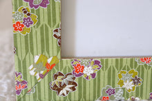 "Load image into Gallery viewer, Green Sakura - 4"" x 6"" Picture Frame decorated with Washi Paper"