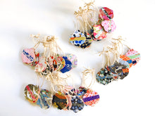 Load image into Gallery viewer, Blossom ornament - Mini Wood Washi paperOrnament