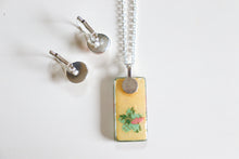 Load image into Gallery viewer, Pink Plums II - Washi Paper Necklace and Earring Set