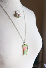 Load image into Gallery viewer, Orange Blossoms II - Washi Paper Necklace and Earring Set