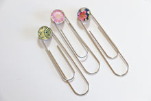 Load image into Gallery viewer, Flower Party - Jumbo Paper Clip/Bookmark
