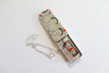 Load image into Gallery viewer, Water Pattern C - Washi Paper Necklace and Gift Tin Set