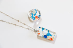Hanabi - Washi Paper Necklace and Ring Set