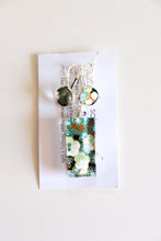 Load image into Gallery viewer, Green Blossoms - Washi Paper Necklace and Earring Set