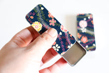 Load image into Gallery viewer, Silver Bamboo in Midnight Blue - Washi paper Pill Box