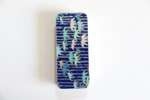 Silver Bamboo in Midnight Blue - Washi paper Pill Box